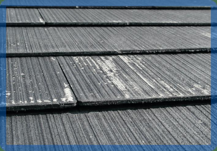 屋根にたまった白い粉