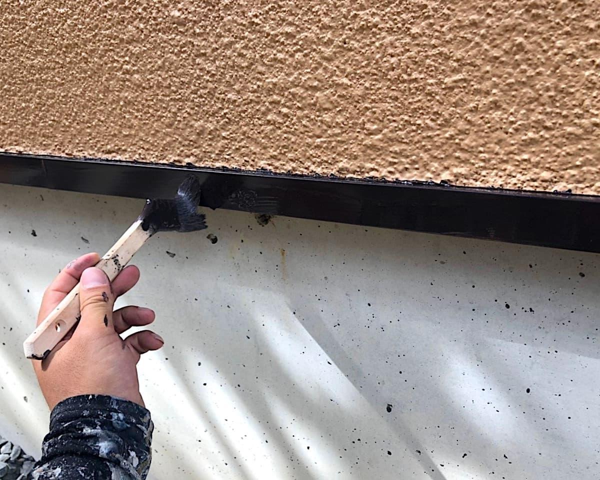 鉄部塗装 上塗り2回目